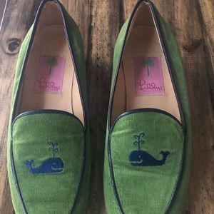 Lilly Pulitzer Corduroy Loafers With Whale Detail